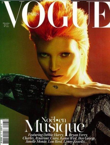 Flipando con la mimetización de Kate Moss a lo Bowie