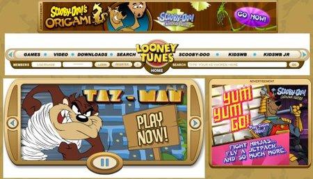 La web de Looney Tunes para los peques