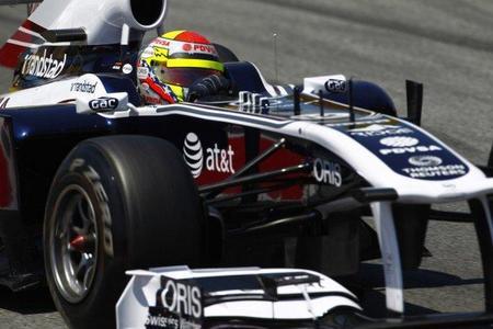 GP de España F1 2011: Pastor Maldonado se presenta