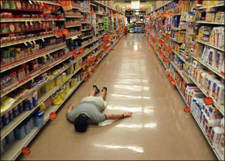 Planking In Supermarket