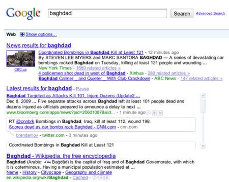 Búsquedas en tiempo real desde Google