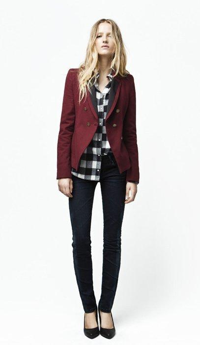 Camisa cuadros blazer Zara Trafaluc septiembre