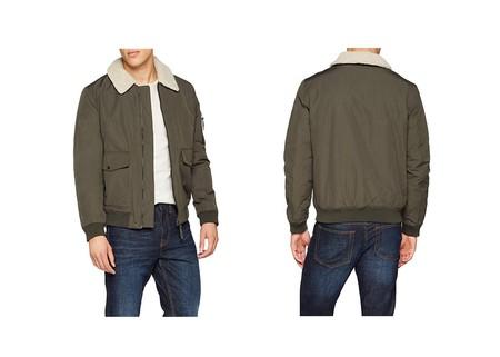 Por sólo 15 euros tenemos la chaqueta Casual Aviator de New Look en color verde en Amazon