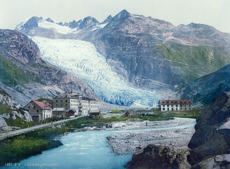 The Rhone Glacier And Glacier Hotel Valais