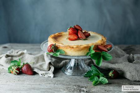 Tarta De Requeson Con Fresas