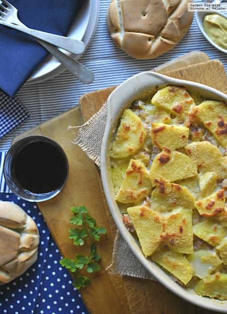 Las recetas de nuestros padres: pastel de patata, jamón y queso