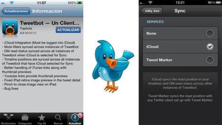 TweetBot incluye sincronización a través de iCloud en su versión 2.2