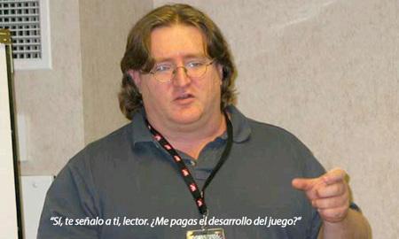 Gabe Newell quiere que nosotros paguemos el desarrollo de sus juegos