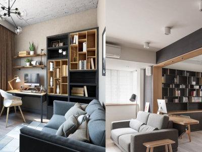 21 formas de integrar una zona de trabajo en la estancia de la casa