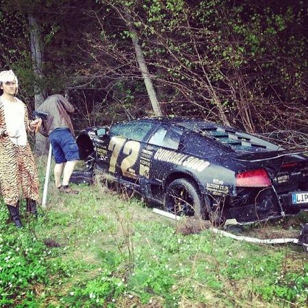 Dolorpasión™: Un participante de la Gumball estrella su Lamborghini Murciélago