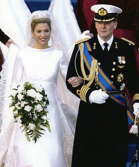 El vestido de novia de la Princesa Máxima Zorreguieta