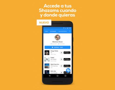 Shazam añade sincronización de canciones entre dispositivos