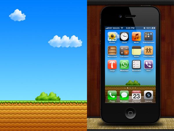 Fondo para el iPhone de Super Mario Bros