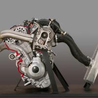 Tres cilindros, cuatro tiempos, 998 cc y ¡turbo! Así es el motor de la Yamaha Sidewinder