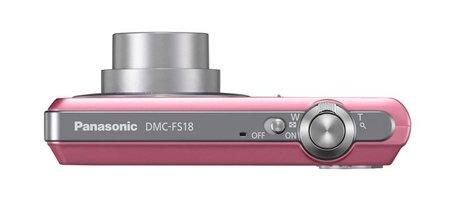 Panasonic Lumix DMC-FS18 cenital rosa