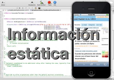 Programando en iOS: orientación del dispositivo, nivel de batería y otros datos estáticos