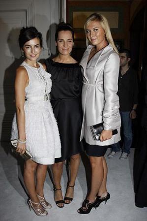 Camille Belle y Maria Sharapova en el desfile de Valentino Alta Costura Invierno 2008