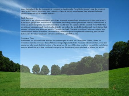 FocusWriter, de los mejores editores de texto minimalistas