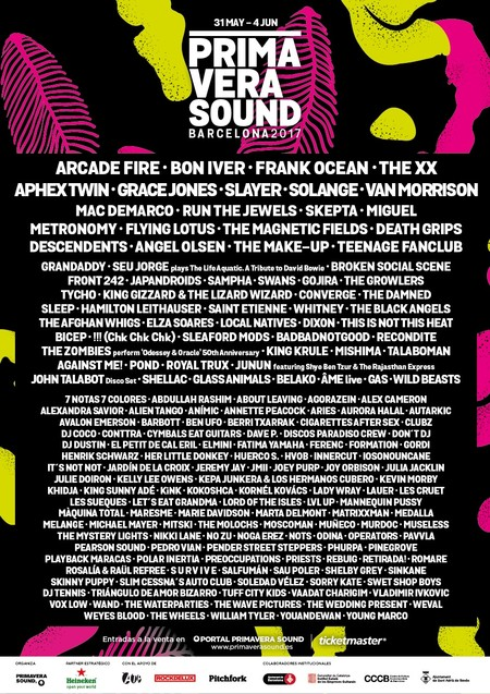 Cartel Primavera Sound 2017 Cast Copia