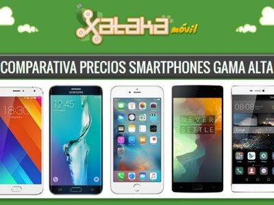 Comparativa precios iPhone 6s, Galaxy S6, Xperia Z5, LG G4 y otros gama alta a plazos con operadores