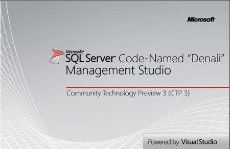 SQL Server Denali CTP 3