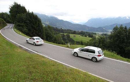 El Volkswagen Golf eléctrico gana el Rally Silvretta de eléctricos 2012
