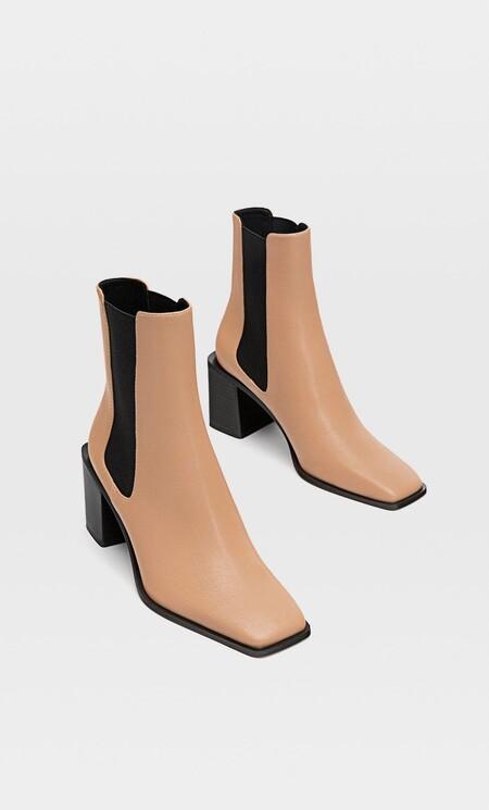 botines punta cuadrada