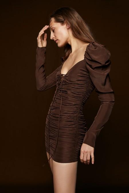 Vestido pareo manga larga zara