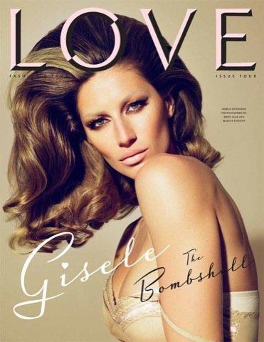Gisele Bundchen, portada revista Love