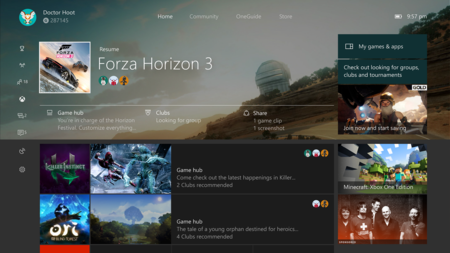 Updated Home Xbox One