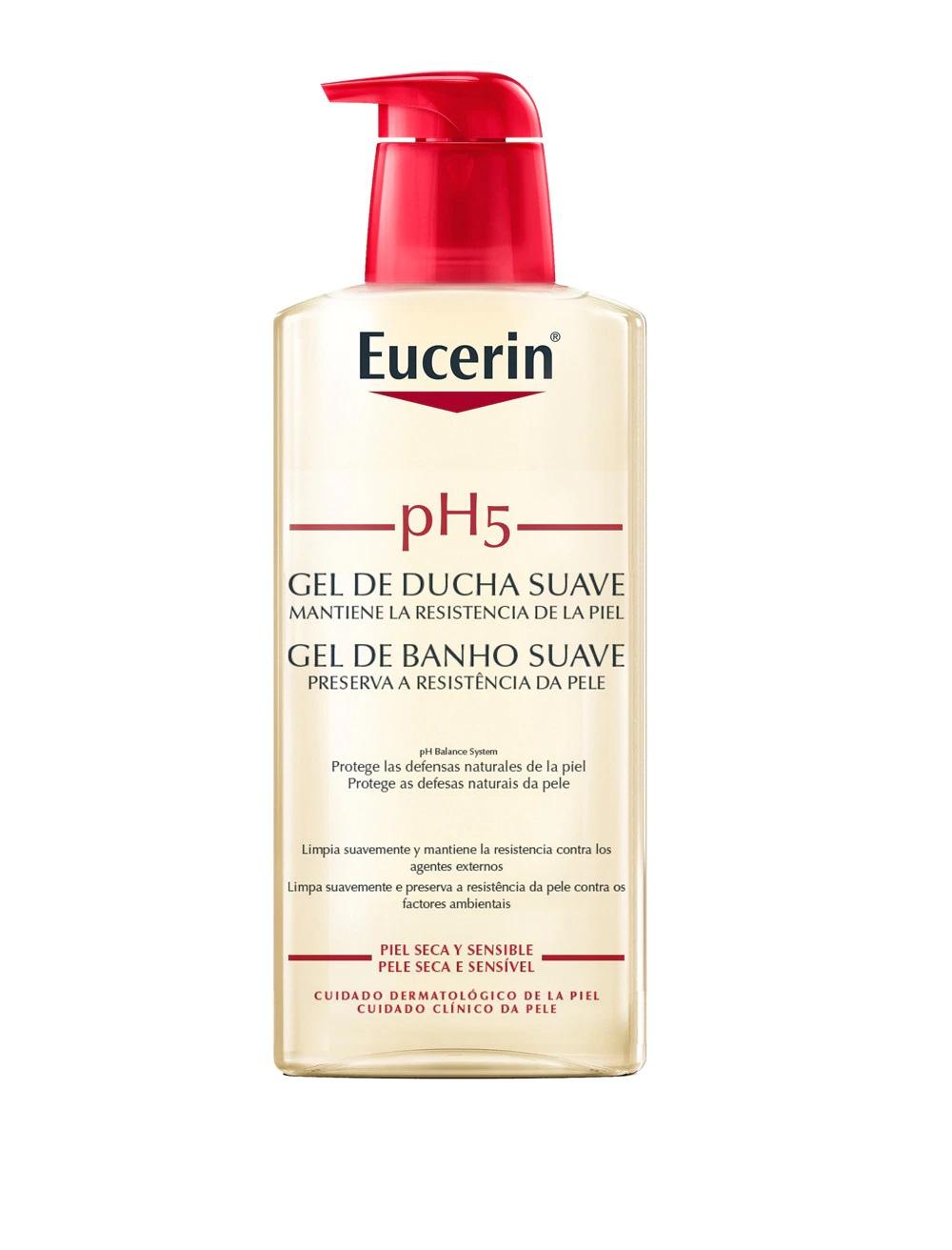 Gel de ducha suave para piel seca y sensible pH5 de Eucerin
