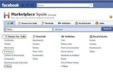 Comprar y vender decoración en Facebook