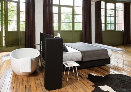 Utilizar el cabecero como separador de espacios para crear un dormitorio