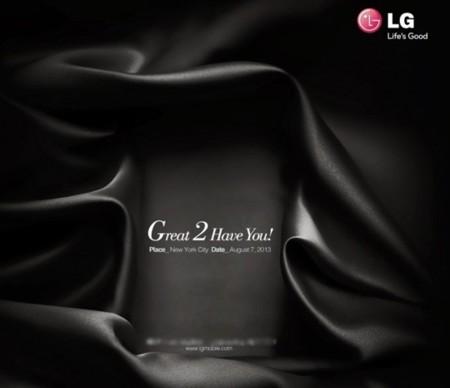 LG G2 será presentado el 7 de agosto, nueva imagen y especificaciones