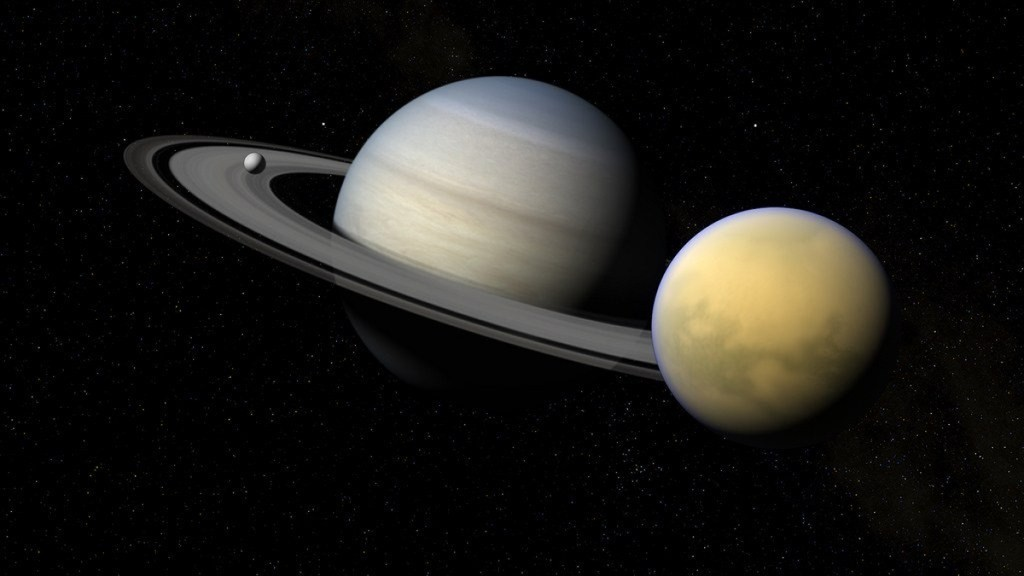 Titán se está alejando de Saturno, 100 veces más rápido de lo que los astrónomos pensaban