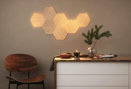 Nanoleaf tiene nuevas luces inteligentes: Elements imita el acabado de madera para una iluminación más cálida