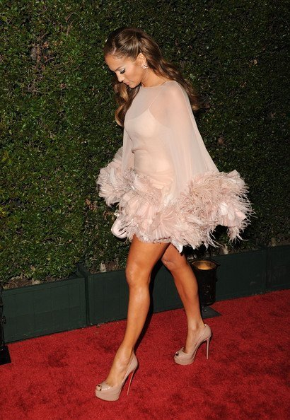 Jennifer Lopez en la fiesta Fox