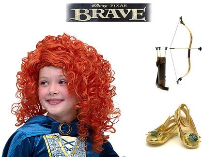 Disfraz de Mérida, de Brave, en Disney Store (y en ebay)