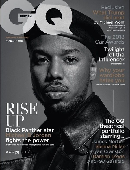 Michel B Jordan Black Panther Covers British Gq March 2018
