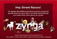 Zynga decide cerrar Street Racing. Los usuarios montan en cólera