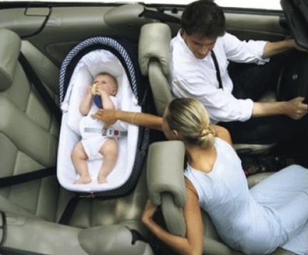 Son seguros los capazos para el coche for Coche con silla de auto