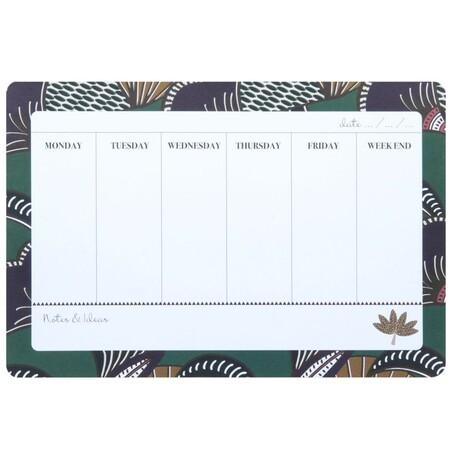 Organizador Semanal Verde De Papel Y Carton 1000 3 39 208729 1