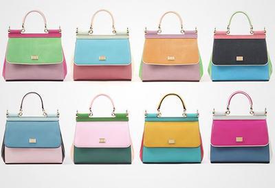 El bolso Miss Sicily de Dolce&Gabbana ahora en formato mini, fabricado en cuero, en colores alegres y refrescantes