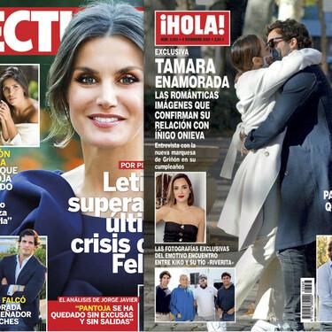 Las fotos más románticas de Tamara Falcó con su novio Íñigo Onieva, la madre biológica de Isa Pantoja y la crisis de doña Letizia y Felipe: estas son las portadas de la semana del 25 de noviembre