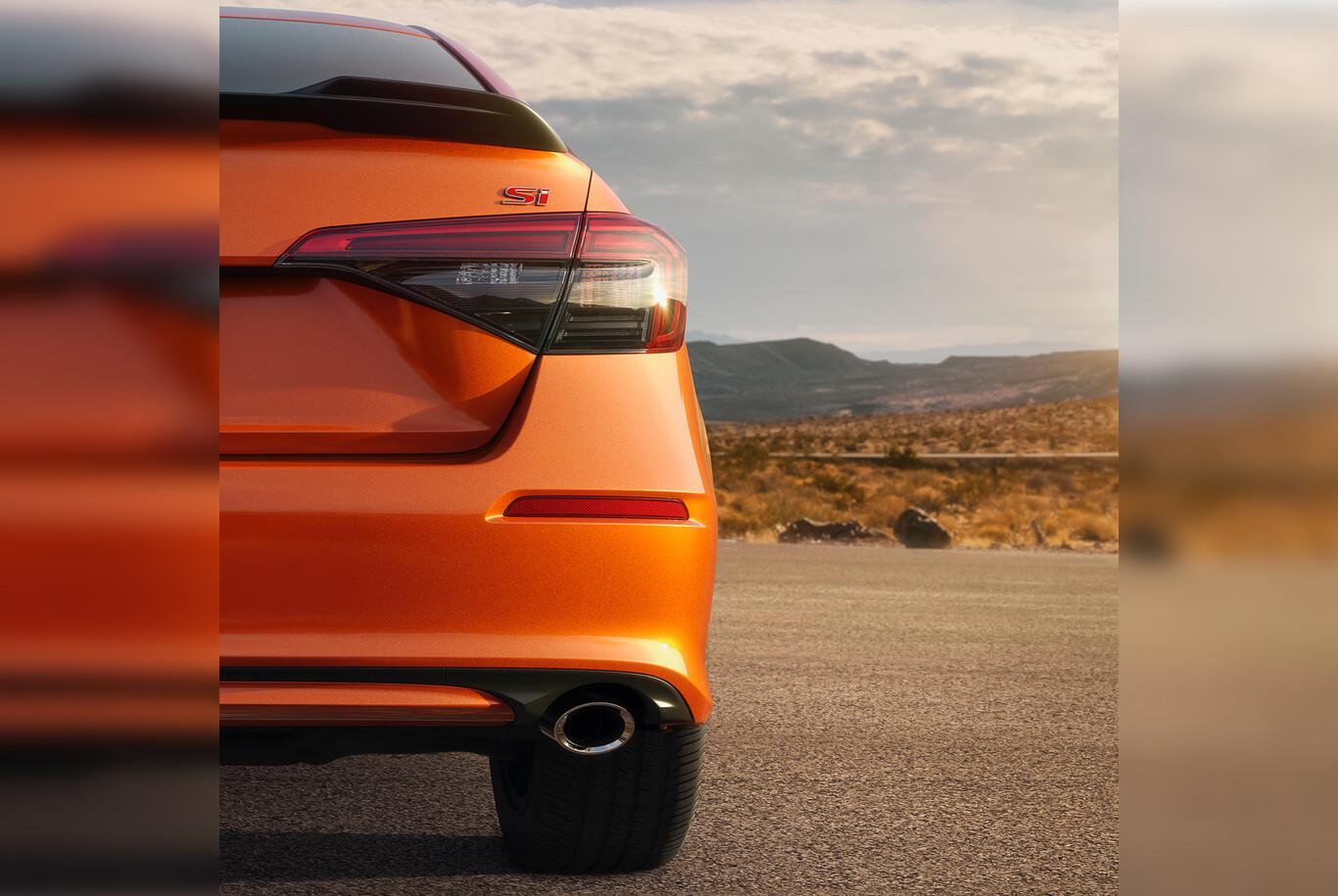El Honda Civic Si 2022 adelanta su carácter deportivo con una foto, a un día de su presentación