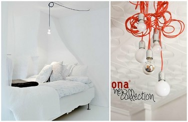New Collection de Ona, una divertida forma de iluminar con bombillas y cables de colores