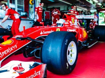 Aspersores en Fiorano para Sebastian Vettel