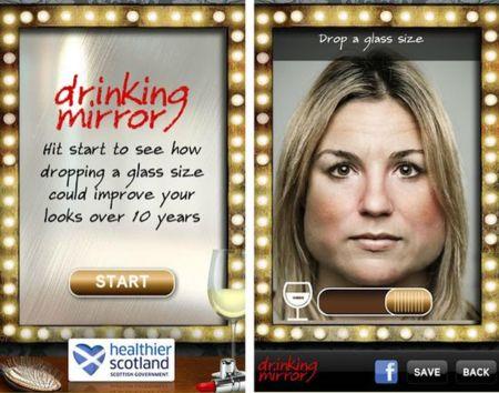 Drinking Mirror: tu futuro si continúas consumiendo alcohol