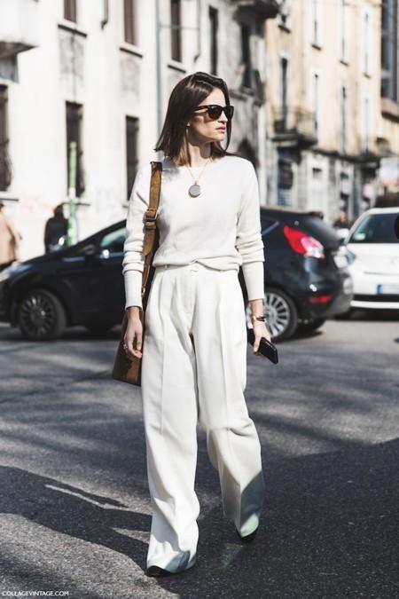 Milan Fashion Week Fall Winter 2015 Street Style Mfw Maria Duenas Jacobs White Outfit 790x1185
