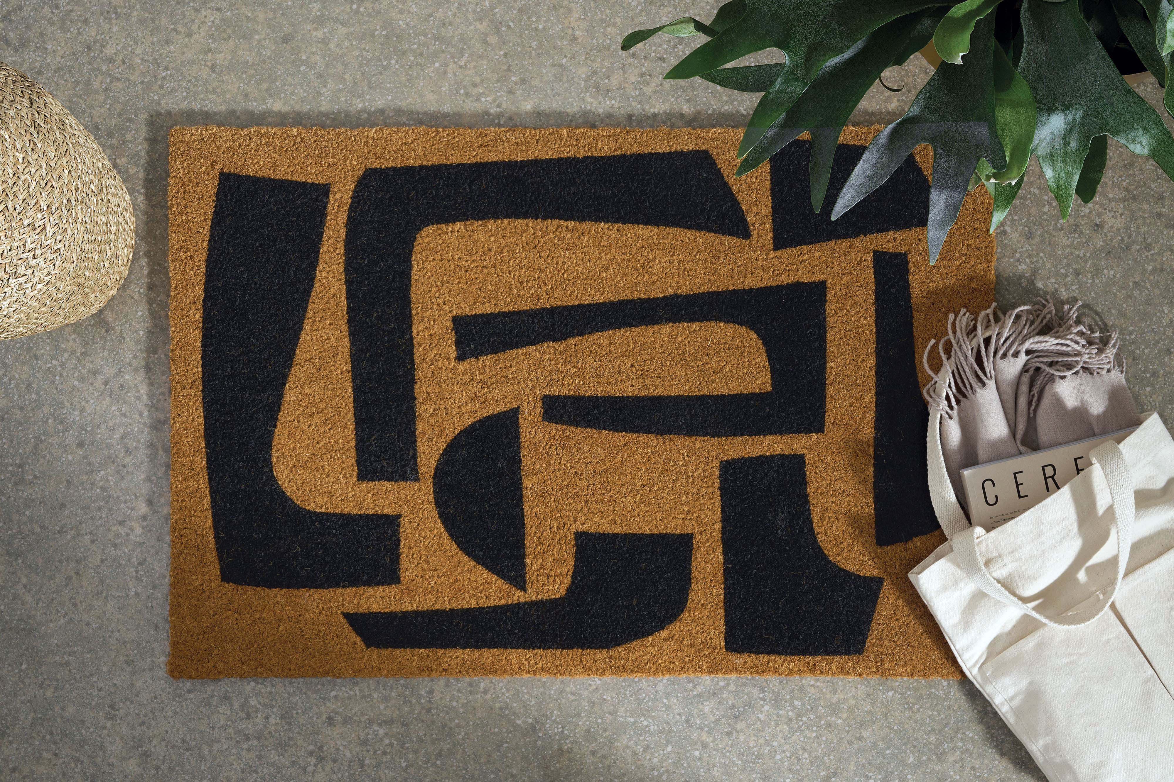 Lafant, felpudo, grande, 60 x 90 cm, negro